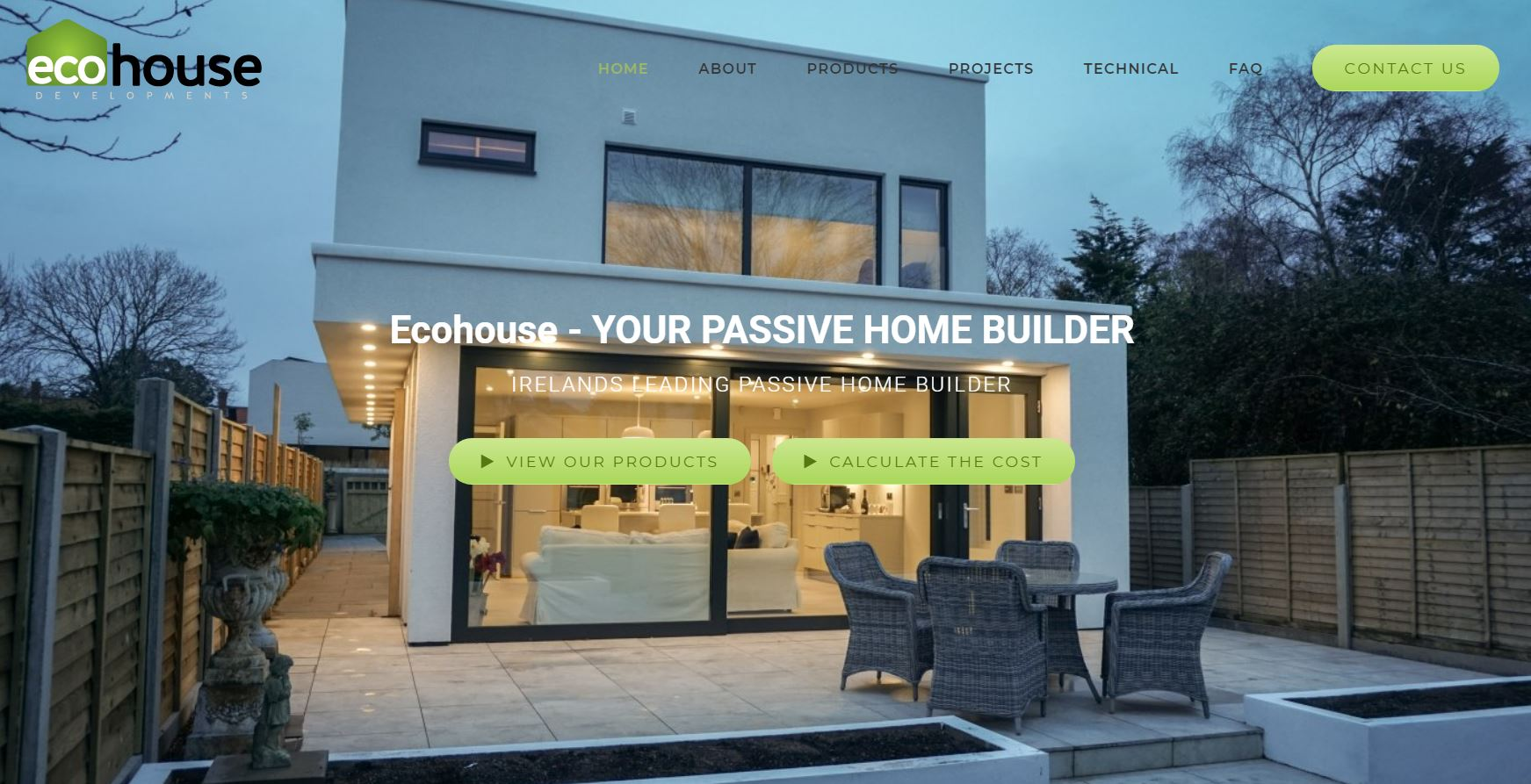 Ecohouse Website Build